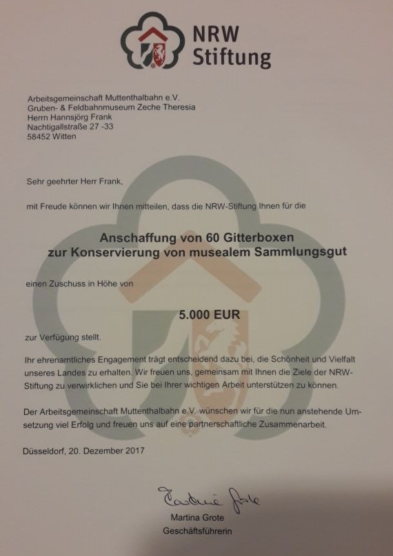 €5000 from the NRW Foundation
